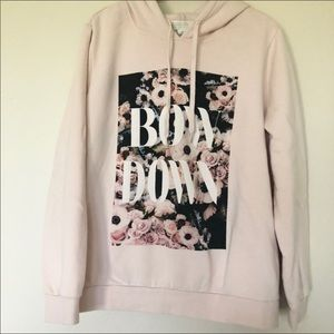 Forever 21 Bow Down Floral Hoodie Sweater